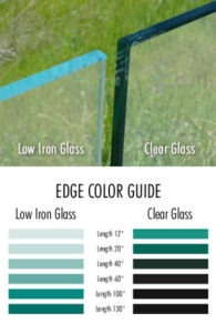 Low Iron Color Scale and Edge Sample