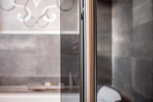 Custom Grey Glass Installation