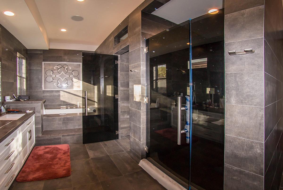 Portfolio a cutting edge glass mirror custom glass shower doors custom grey glass shower door enclosure and bathroom door installation planetlyrics Choice Image